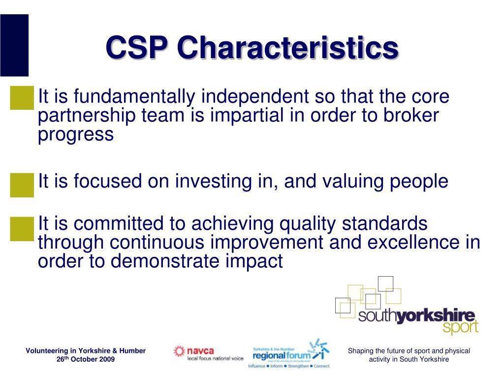 CSP Characteristics