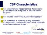csp characteristics6