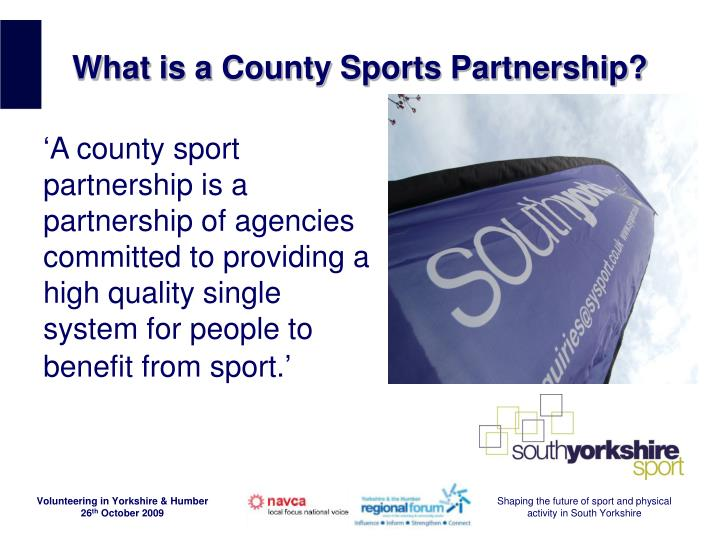 What is a county sports partnership