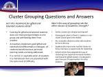 cluster grouping questions and answers11