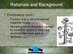 rationale and background7