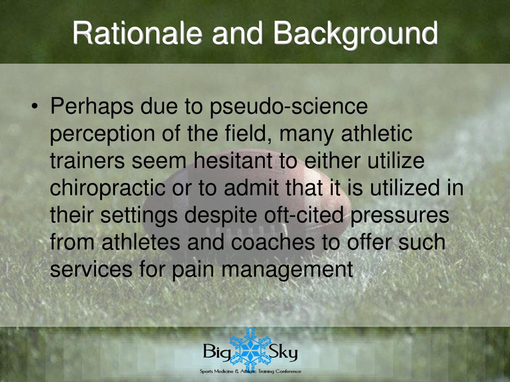 Rationale and Background