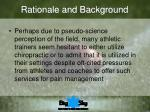 rationale and background9