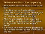athletics and masculine hegemony