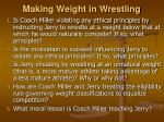 making weight in wrestling