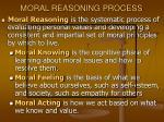 moral reasoning process