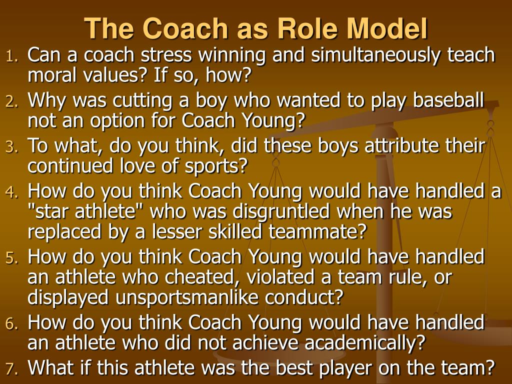 The Coach as Role Model