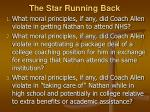 the star running back