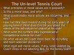 the un level tennis court