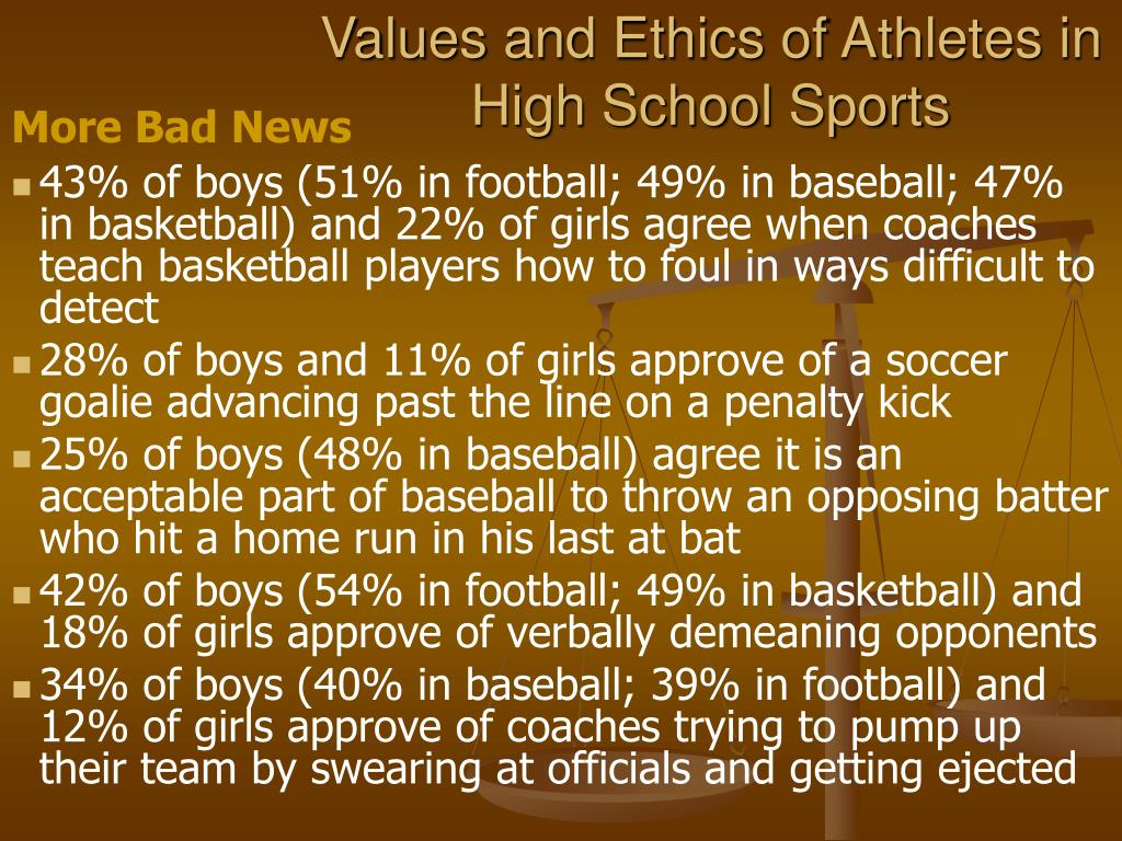 Values and Ethics of Athletes in