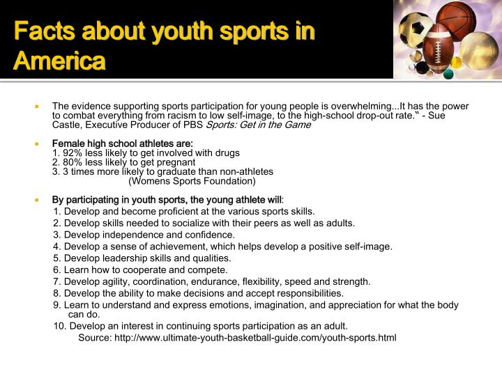 Facts about youth sports in America