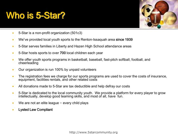 Who is 5-Star?