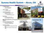 summa health system akron oh