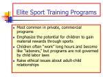 elite sport training programs