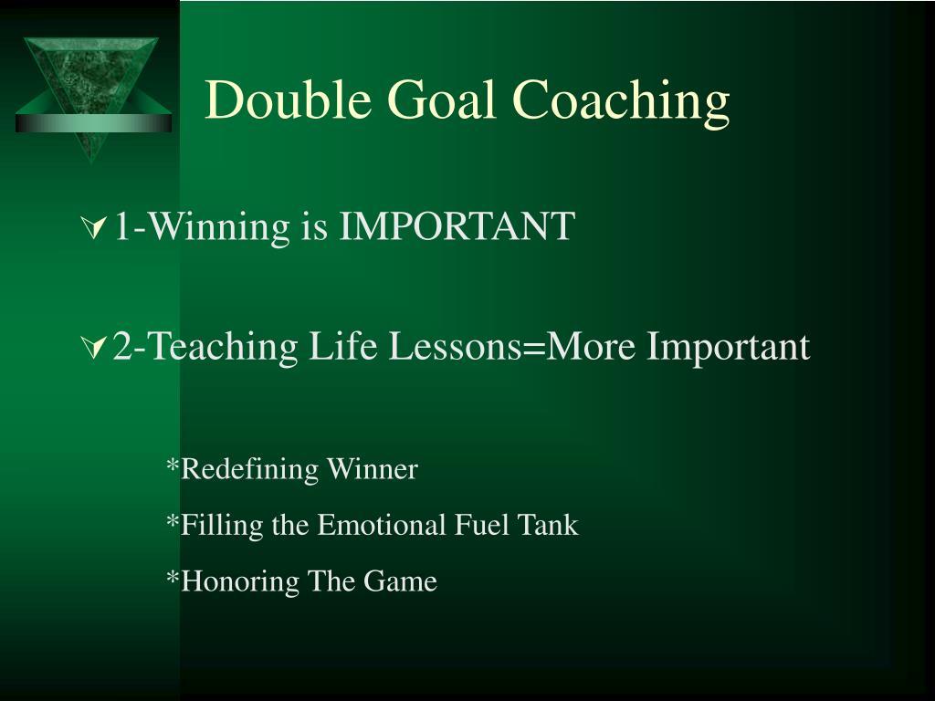 Double Goal Coaching