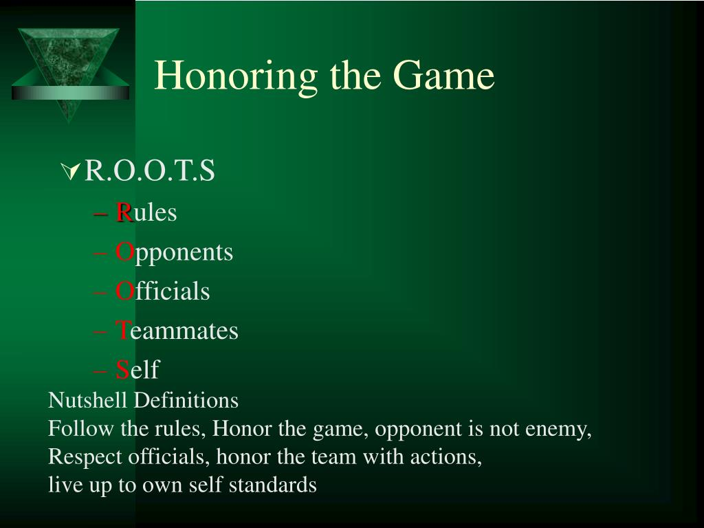 Honoring the Game