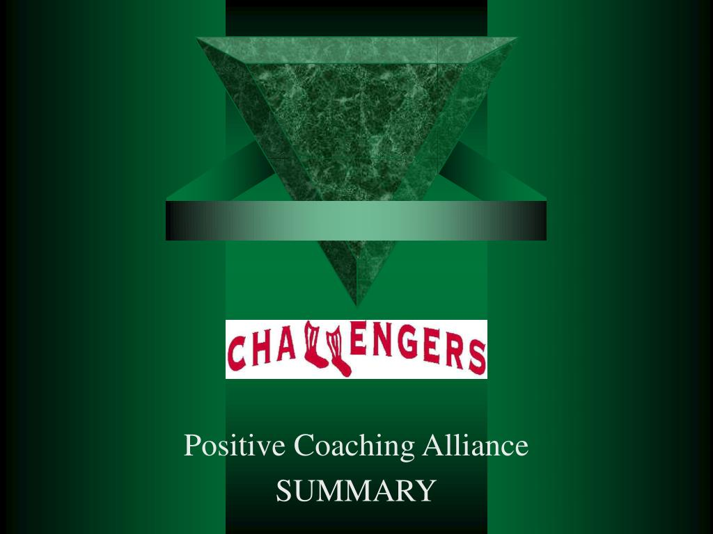 positive coaching alliance summary l.