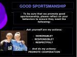 good sportsmanship
