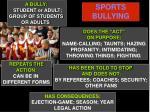 sports bullying