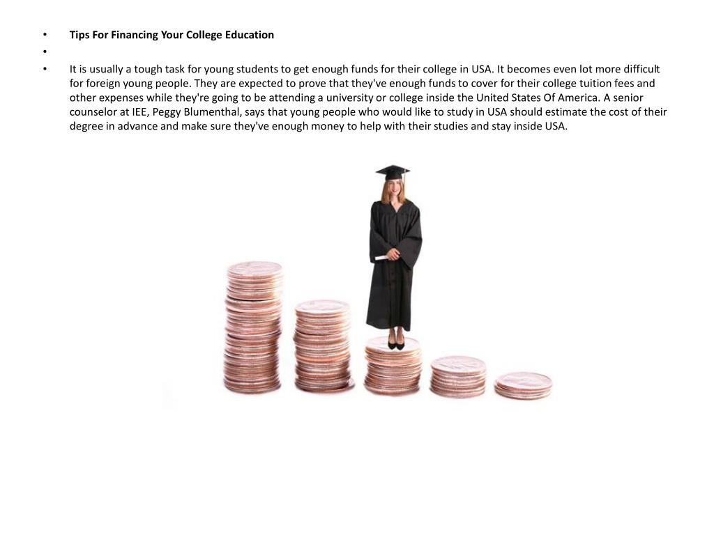 Tips For Financing Your College Education