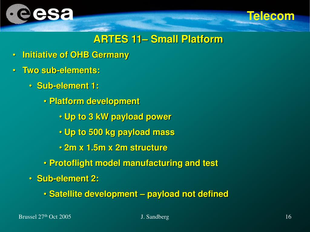 ARTES 11– Small Platform