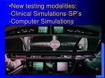 new testing modalities clinical simulations sp s computer simulations