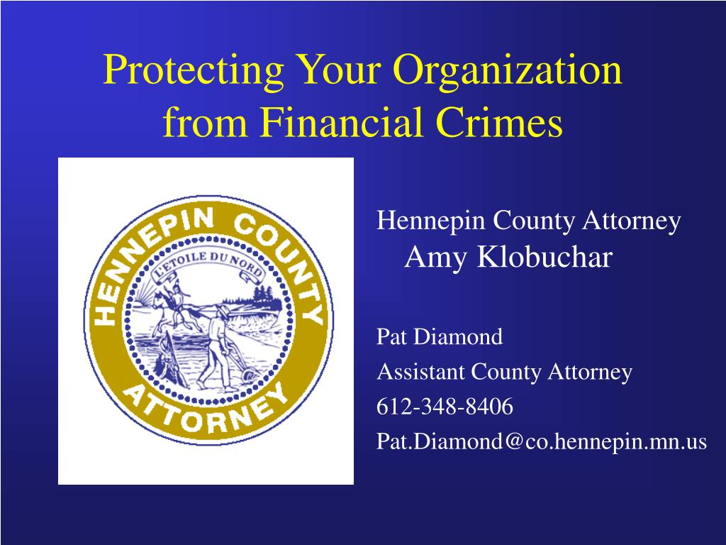 Protecting Your Organization from Financial Crimes