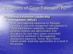 examples of coop extension pd