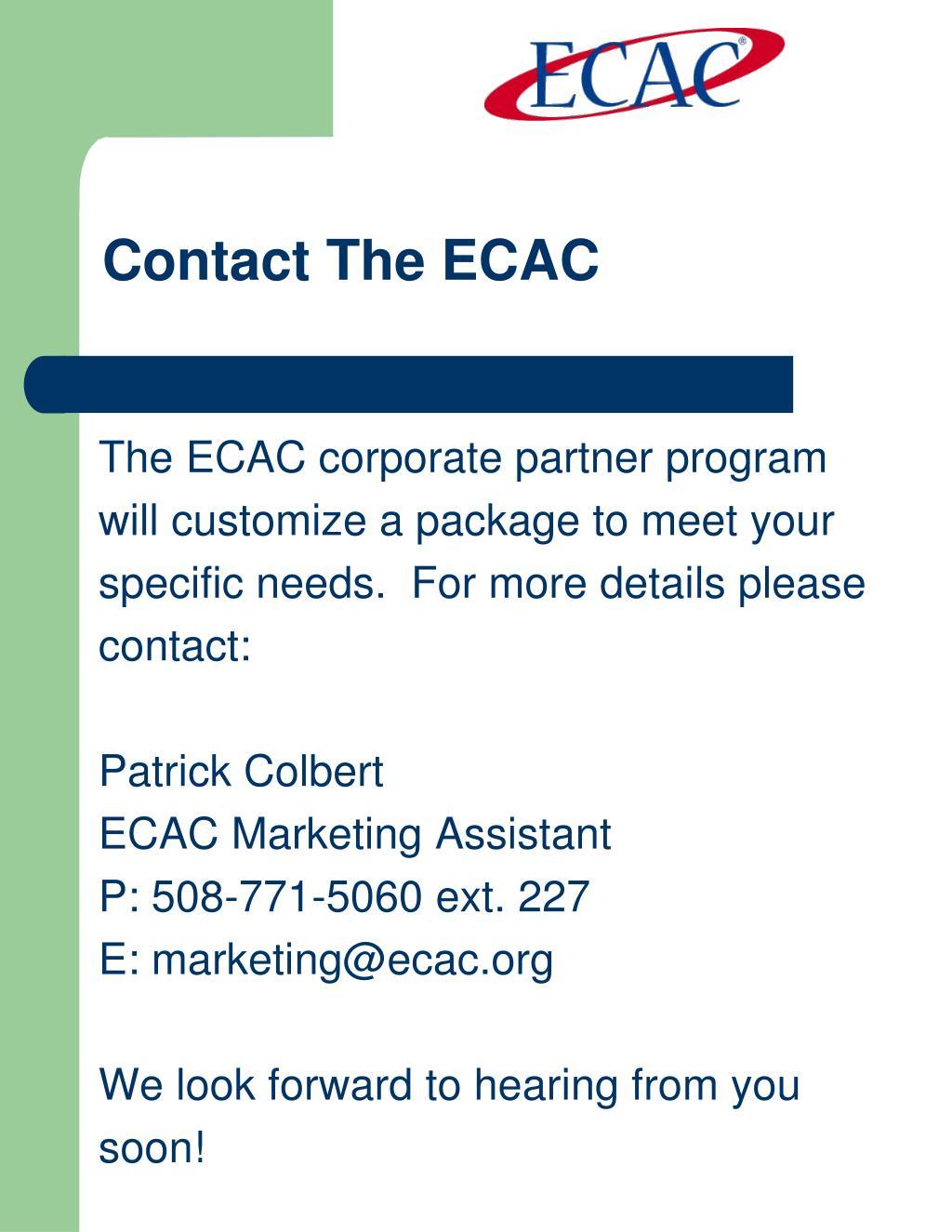 Contact The ECAC