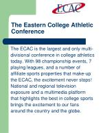 the eastern college athletic conference