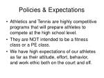 policies expectations