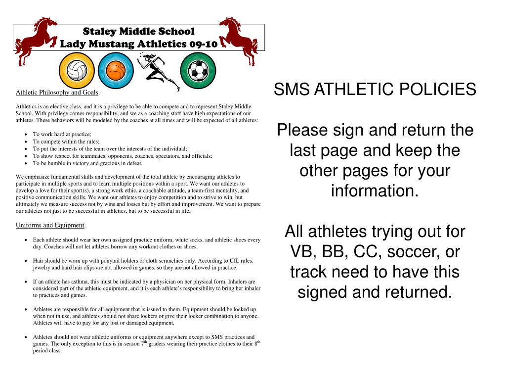 SMS ATHLETIC POLICIES