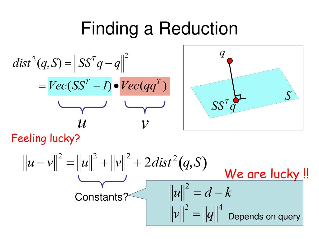 Finding a Reduction
