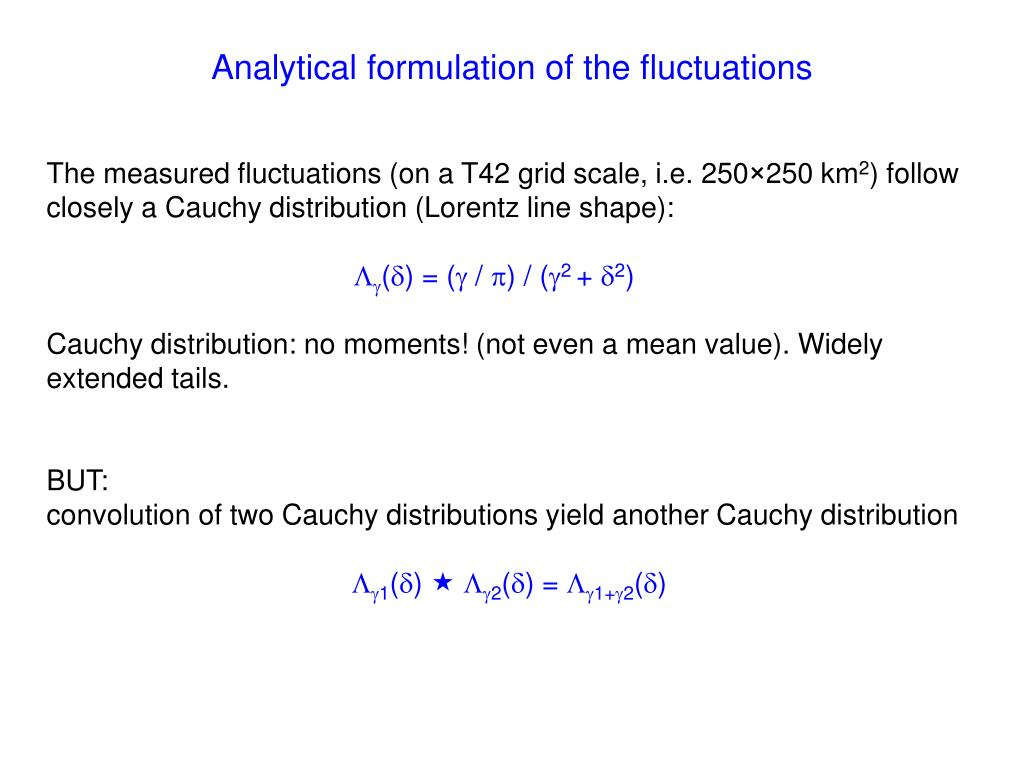 Analytical formulation of the fluctuations
