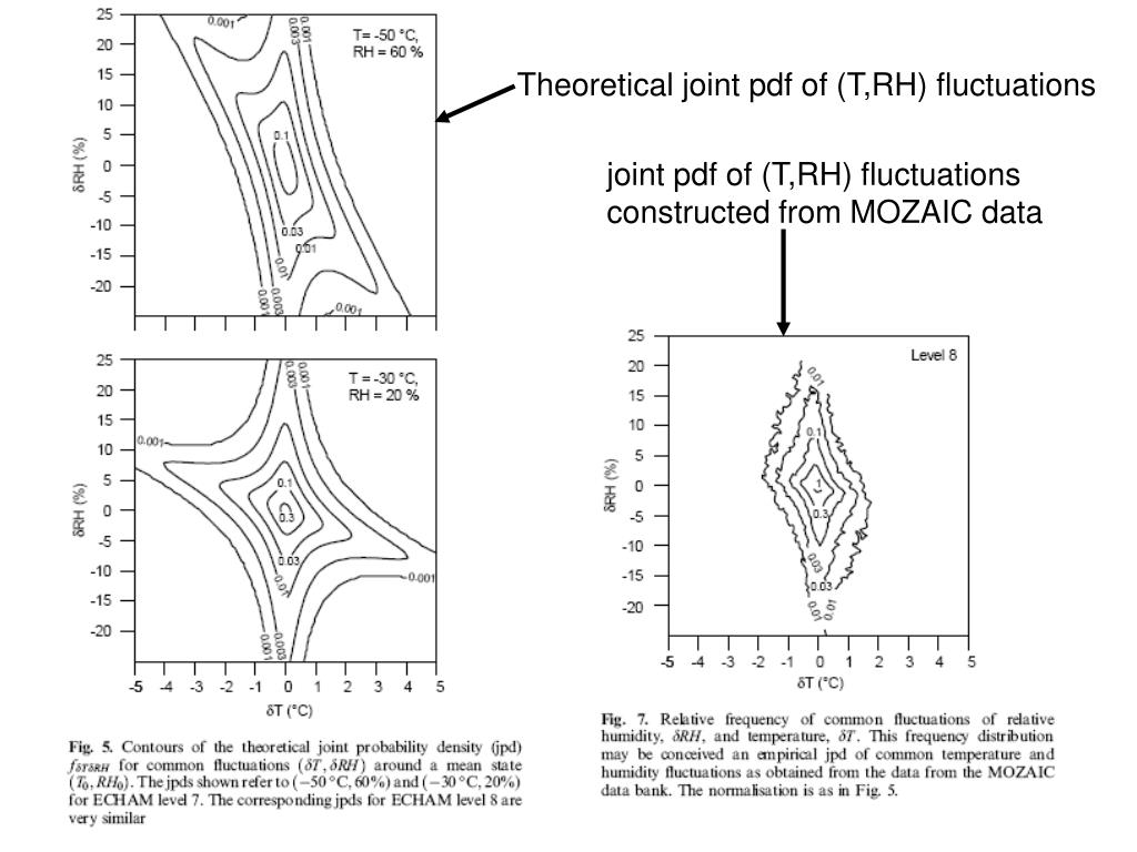 Theoretical joint pdf of (T,RH) fluctuations