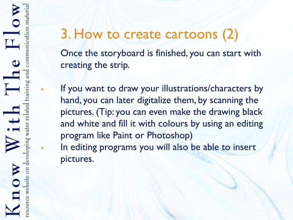 3. How to create cartoons (2)