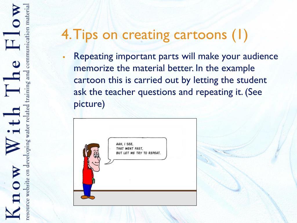 4. Tips on creating cartoons (1)