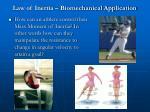 law of inertia biomechanical application