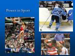 power in sport