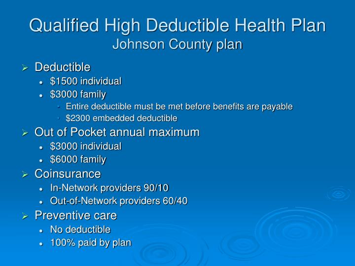 Qualified High Deductible Health Plan