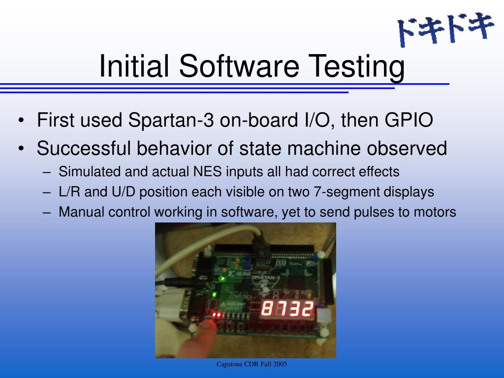 Initial Software Testing