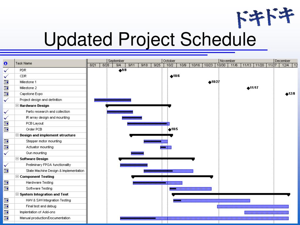 Updated Project Schedule
