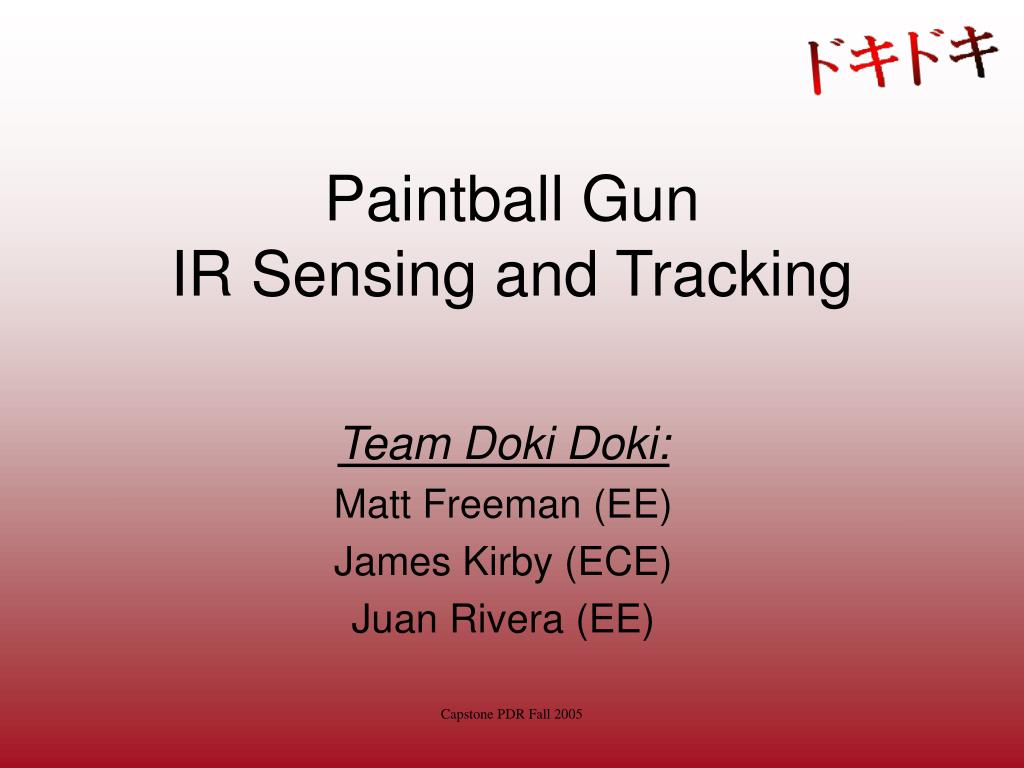 paintball gun ir sensing and tracking l.