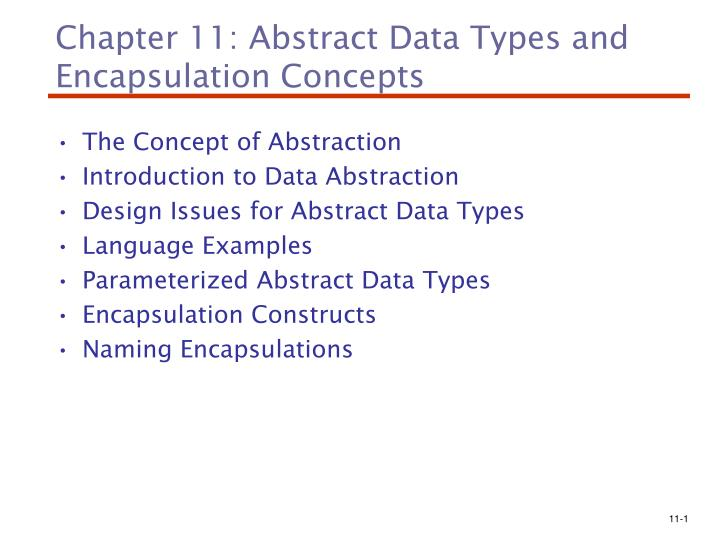 Ppt Chapter 11 Abstract Data Types And Encapsulation Concepts