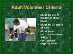 adult volunteer criteria