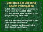 california 4 h shooting sports participation
