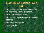 content of national web site