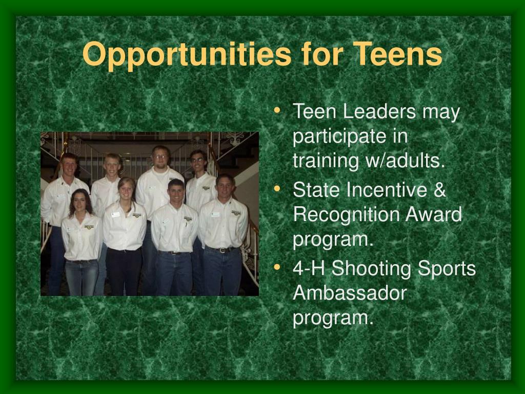 Opportunities for Teens