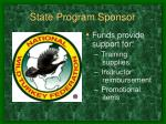 state program sponsor