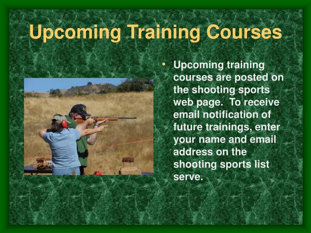 Upcoming Training Courses